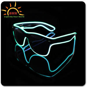 flashing lighting led glasses for parties DJ Bright Light Safety Light up Glasses wafarer EL wire cool eyeglasses 2016 New