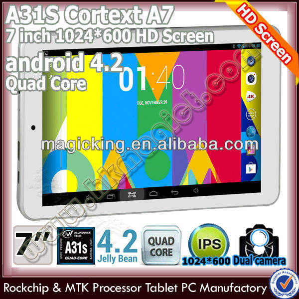 ต่ำราคา ALLWINNER A31S Tablet PC Quad Core Android 4.2