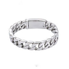 75973 Xuping Fashion Hip Hop Stainless Steel Chain Cuban Link Bracelet Men