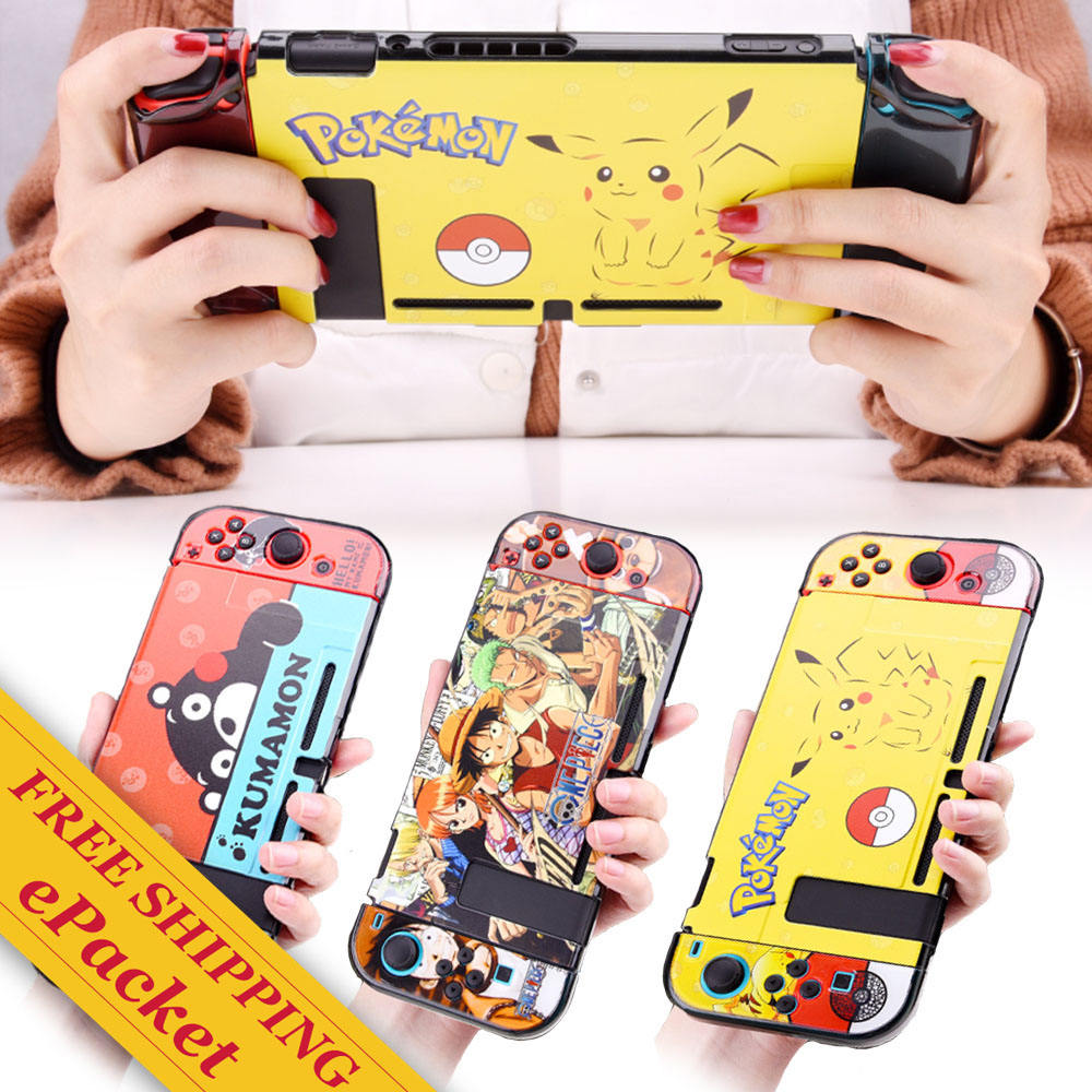 For Nintendo Switch Frosted PC Cartoon case Lite Precise Protective cover for joy con controller