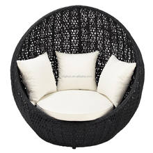 Floor bird nest designed outdoor patio furniture rattan ball shaped chair