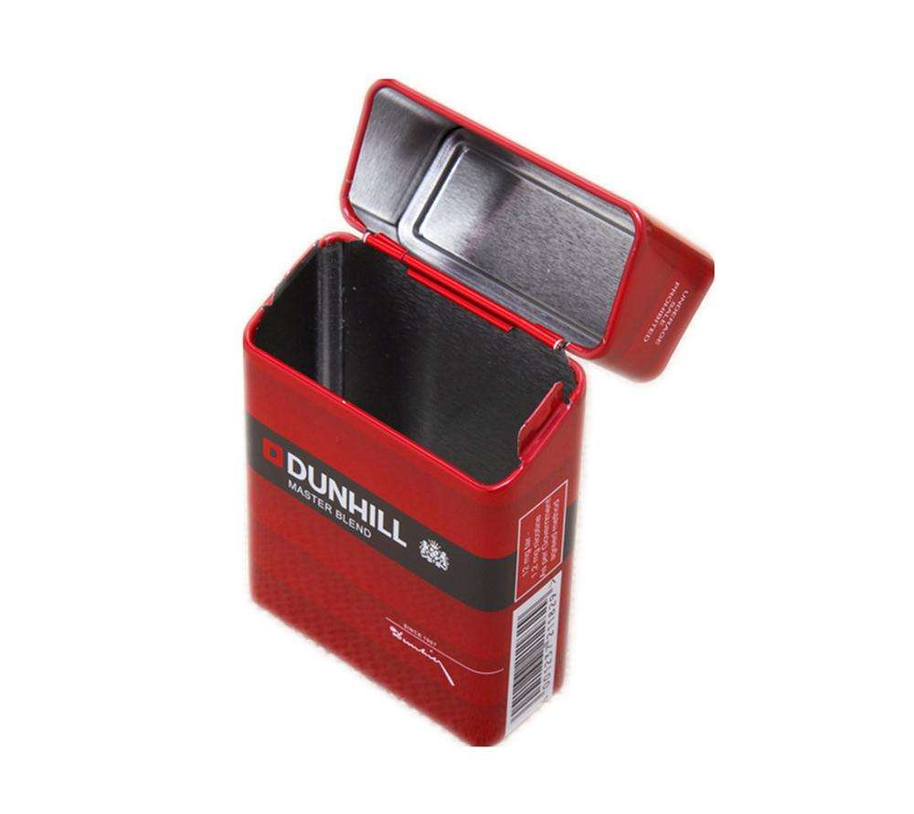 20 cigarette metal tin box packaging tin cigarette case