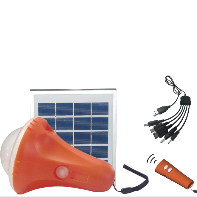 Remote control solar lantern with mobile chargers and 2.8W solar panel for Home use