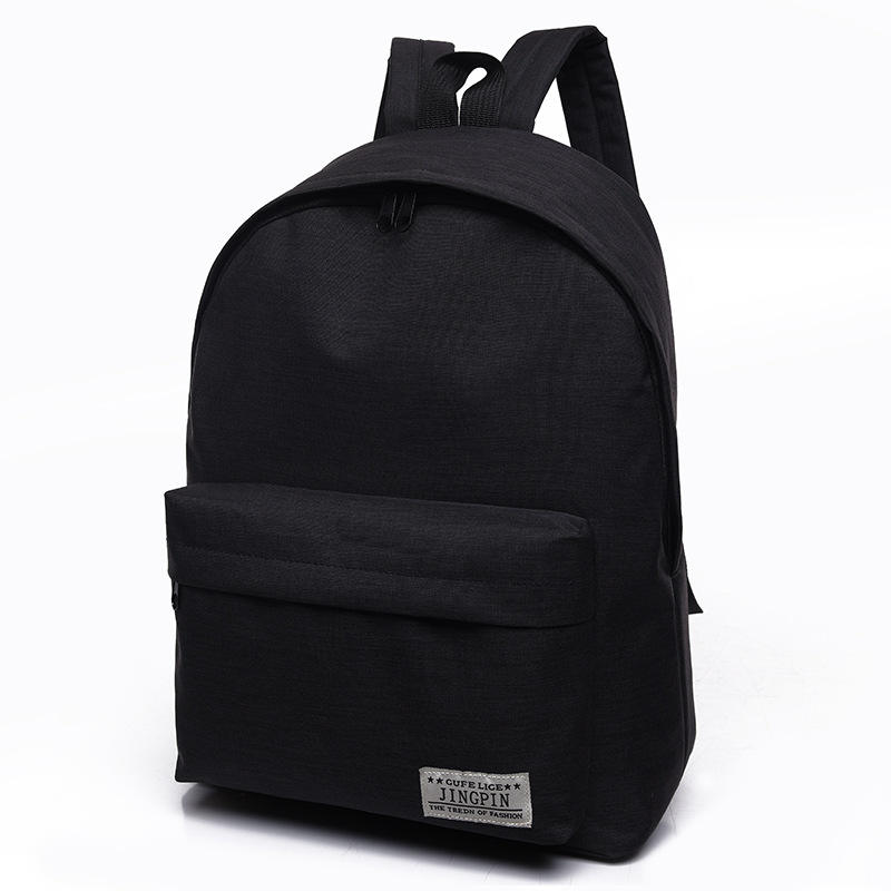New Trendy Simple Student Schoolbag Mini Canvas Backpack Couple Bag