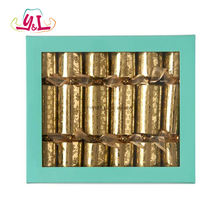 Party Decorations 10'' Gold Leaf  Christmas Crackers