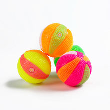 flashing rubber stress massage spiky ball spiky squeaky ball dog toys