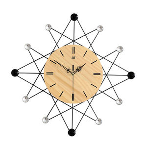 Unique Creative Metal Clocks Home Decor Wall Art Real Wooden Craft Factory