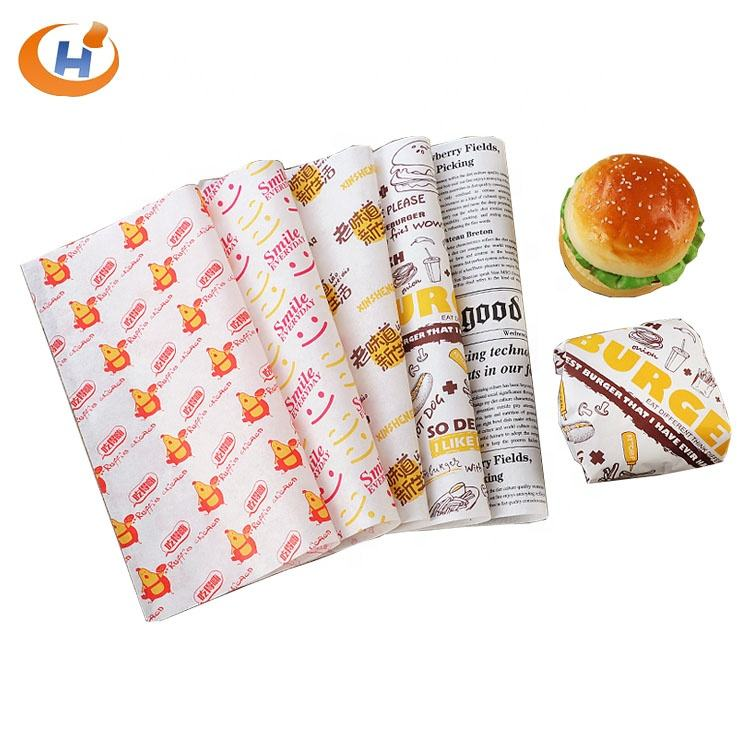 Fulton Manufacturer Custom Print Food Greaseproof Paper Wrapping Burger Wrapper Paper