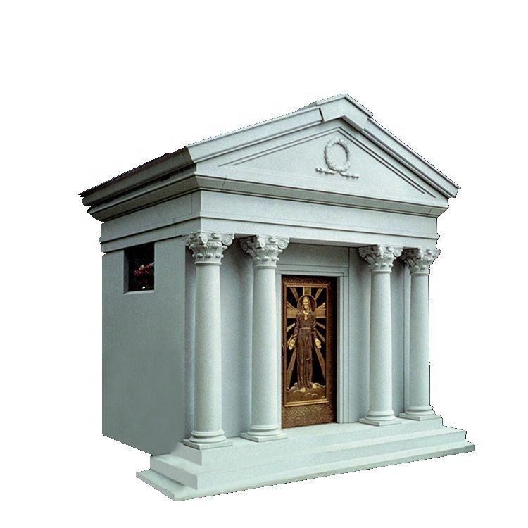 American White Marble Stone Mausoleum Prices,Cheap Granite Cemetery Mausoleum Designs For Sale