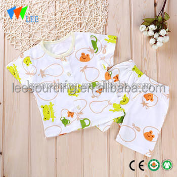 baby bamboo clothing t shirt and shorts floral bamboo cotton infant clothes set