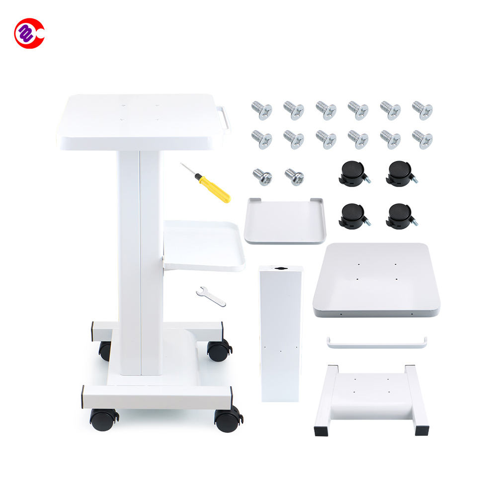 Good price salon trolley with lock cavitation rf trolley Iron Trolley Cart