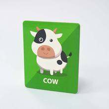 Custom Printed Card Baby Animal Standard Educational Learning Flash Cards