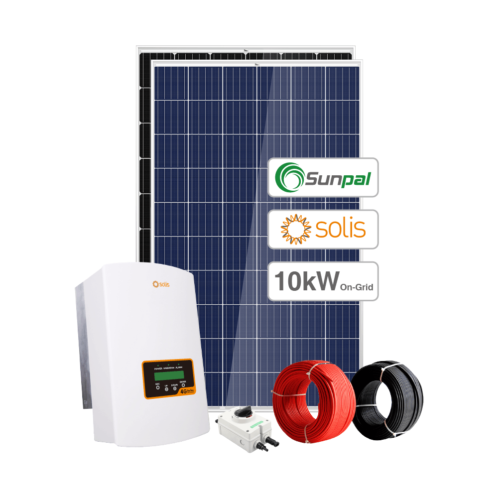 Sunpal On Grid Tied Solar Power System Home 10KW 6KW 7KW 8KW 9KW Solar System 120V 220V 240V 380V