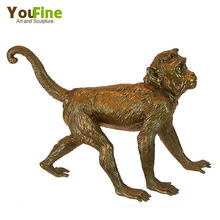 Decorative Bronze Wildlife Monkey Sculpture For Sale