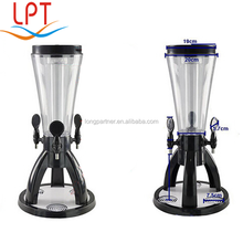 3L tabletop tripod beer tower cooler , beer dispenser machine with ice cube container