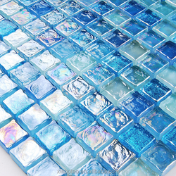 Cheap price glass mosaic pool tiles 8mm thickness