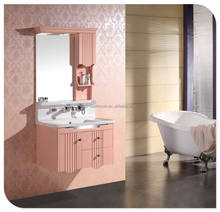 hot selling modern wall mounted waterproof PVC / solid wood bathroom cabinet for wholesale