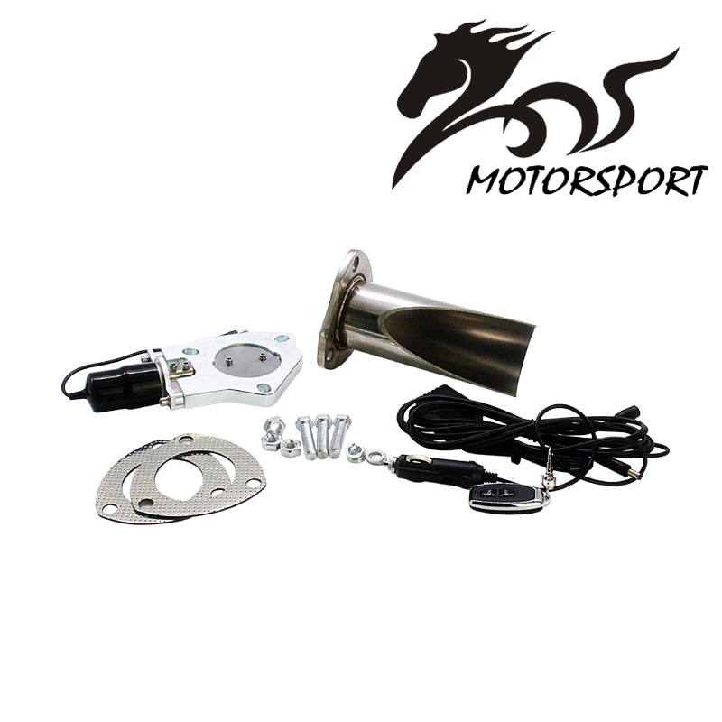 "New 2.25 ""/2.5"" / 3 ""zoll Electric Stainless Exhaust Cutout mit fernbedienung With Be cut rohr Exhaust Cut heraus Kit"