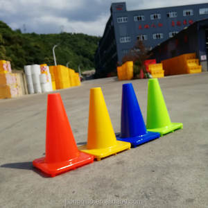 Manufacture Taizhou China Orange, Lime Green, Green, Yellow Flexible PVC traffic cone mini traffic cones