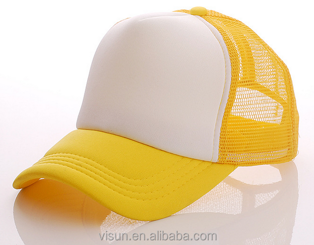 Plain Baseball Cap Blank Hat Solid Color oem customize logo promotion bill trucker cap