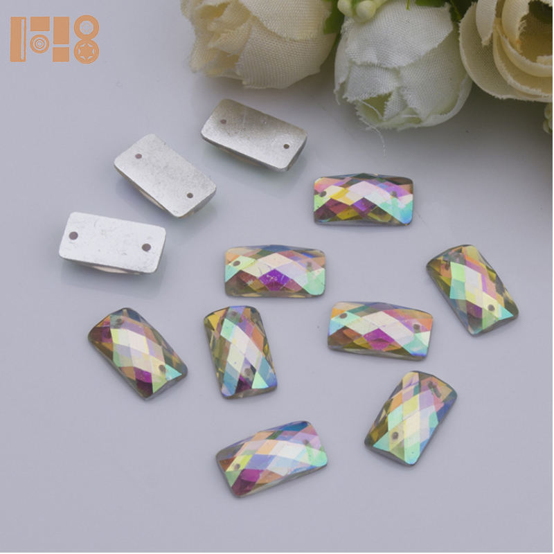 wholesale crystals ab baguette acrylic stones for jewelry making