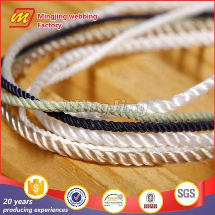 High Custom Woven Cotton Strings 3mm Elastic Cord