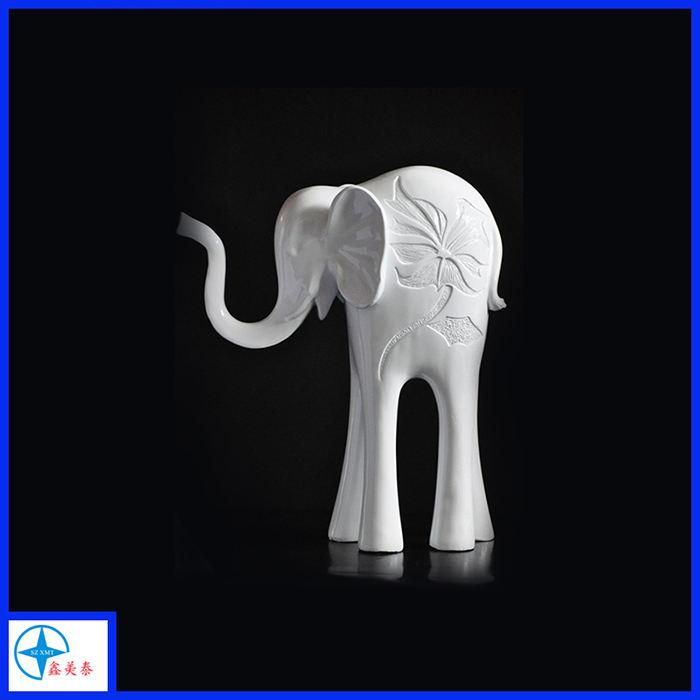 Natureza ornamento do polyresin estátua de elefante branco
