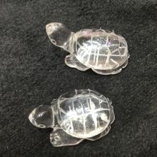 Wholesale handmade natural quartz crystal tortoise carvings transparent crystal turtle Figurine for Decoration