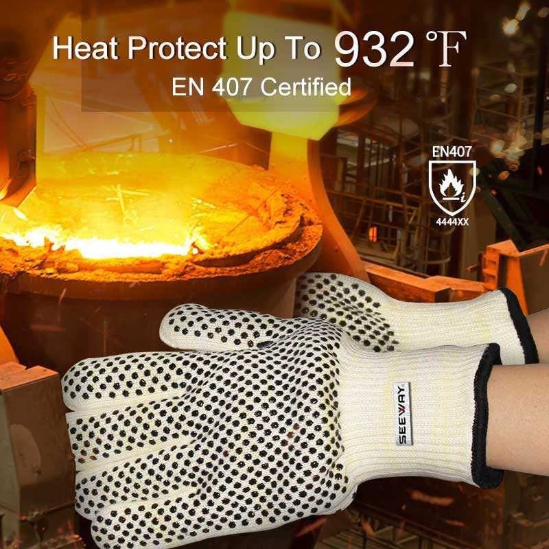 High Temperature Resistant Gloves High Temperature 932F Heat Resistant Oven Gloves