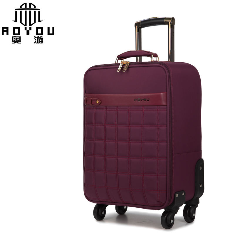 2019 Hot sale 4 wheel spinner suitcase nylon carry-on luggage set