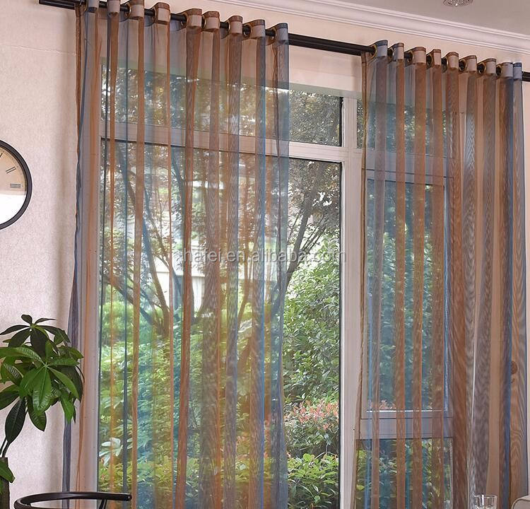 new feeling color changing embroidered sheer hall curtain
