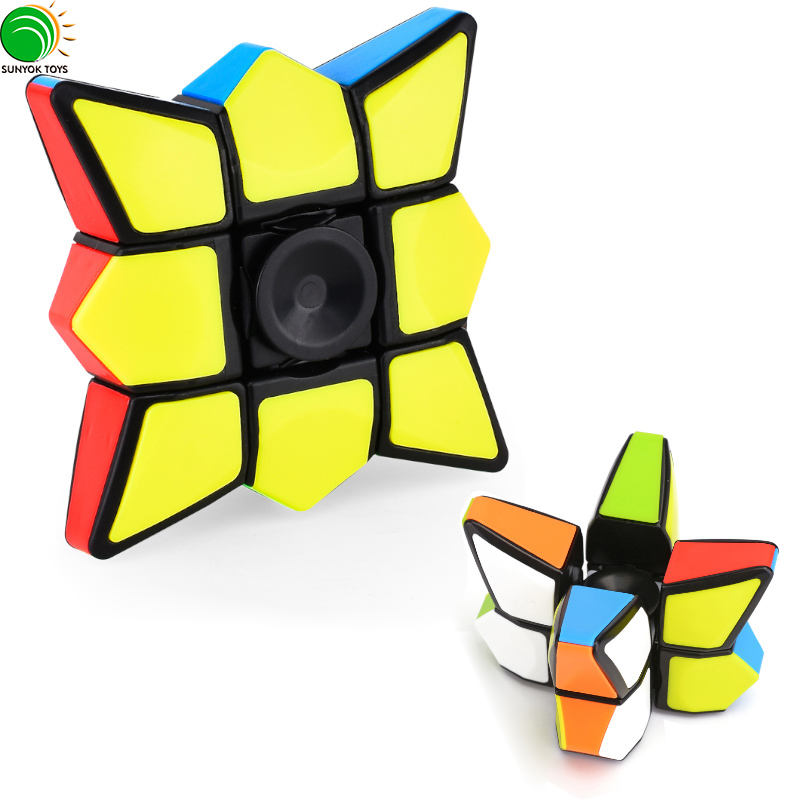 High Quality 1x3x3 Magic Fidget Spinner Cube Hand Toys Plastic Cube