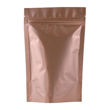 Rose gold printed/matte surface/250g, 500g resealable stand up bag for coffee bean/snack/food