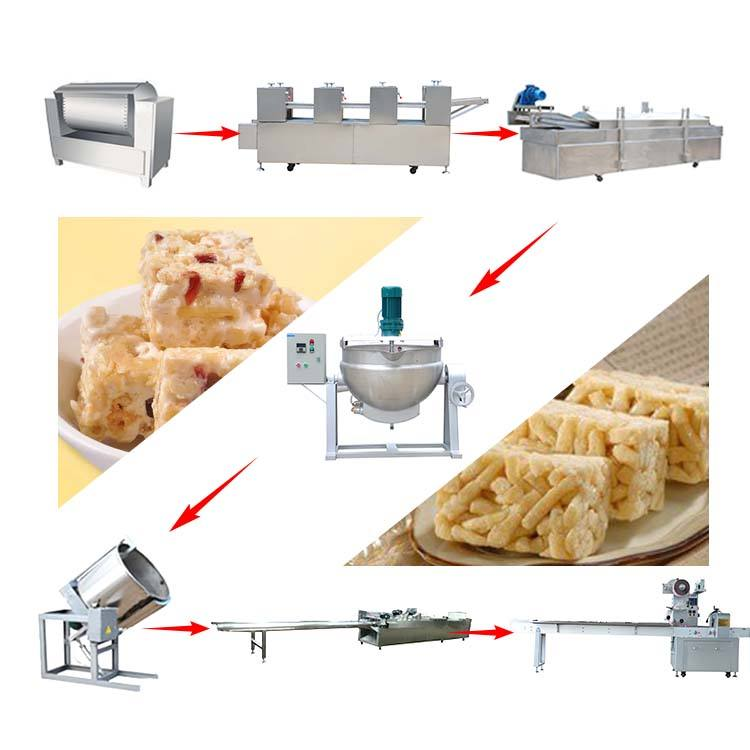 High quality caramel treats product making machine Automatic Rice Ball Candy Production Line Rice Bar Production Line