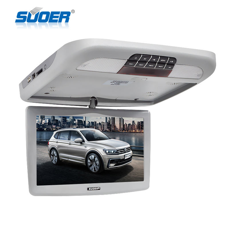 10 inch LCD car roof monitor TV flip down car monitor with DVD/MP5 player support USB/SD/HDMI input for car
