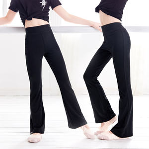 Girls Flare Pants High Waist Dance Clothing