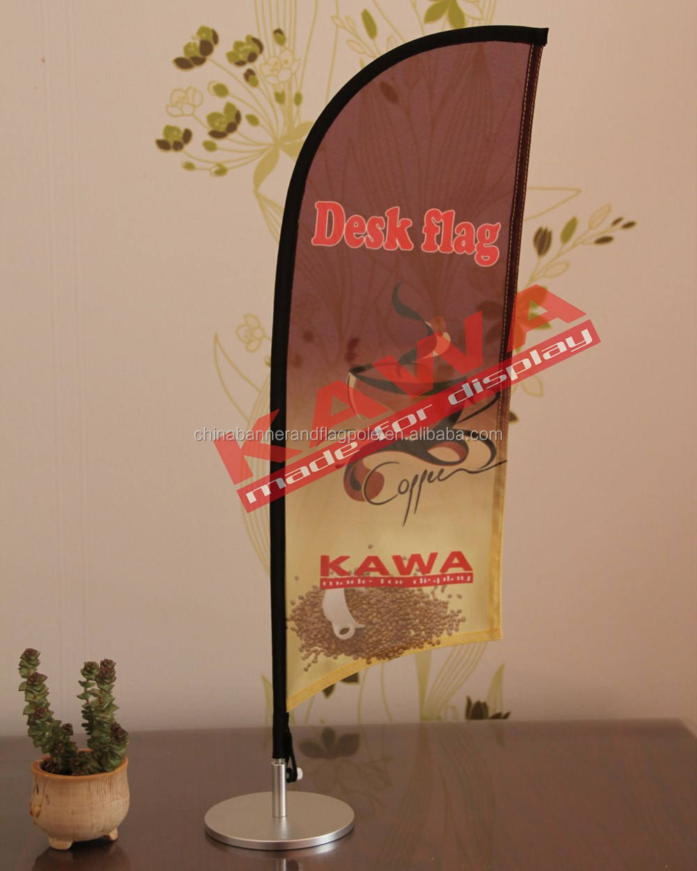 Cheap custom printing promotional table flag