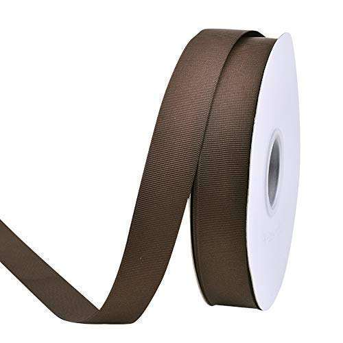 MOQ 1 roll Wholesale 1 inch Width 25 mm Tan Brown grosgrain ribbon For Gift Wrapping, 1 inch grosgrain ribbon