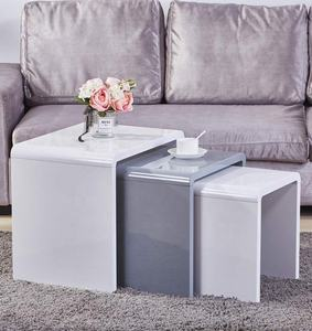 End side coffee table small for sale cheap,nordic white high gloss nested nesting end side coffee table set of 3