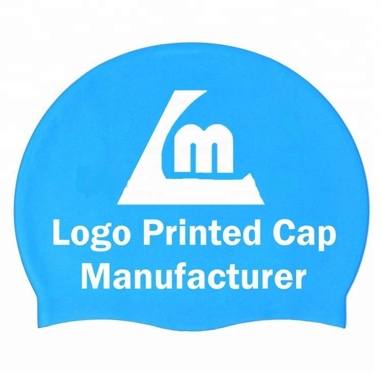 Wholesale Customize Printing 100% Silicone S/L/XL Larger Size Man's Swim Caps for adult