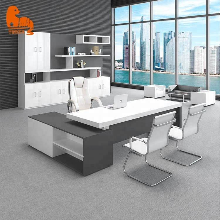 Colourful table office specifications wooden office table design