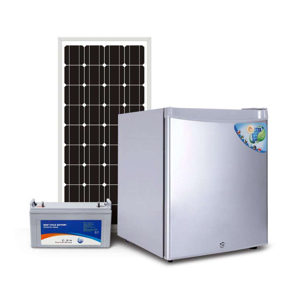dc home used small mini solar energy power portable refrigerator fridge freezer with solar energy in dubai