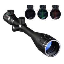 6 24X50 riflescopes sniper tactical hunting optics Red Green Dot sight air Rifle Scope Telescope Sight gun hunting weapons