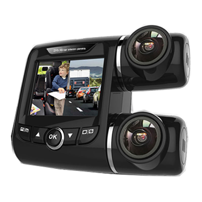 Front And Rear Fhd 1080P Wifi Car Interior Camera,Dual Lens Car Camera With GPS