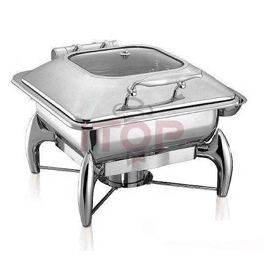 luxury hydraulic 304 stainless steel chafing dish economic induction cooker buffet service dish food warmer