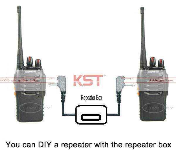 Dua Cara Radio Repeater Kotak untuk Baofeng UV-5R Yang UV-5RB UV-5RC BF-888s H-777 UV-5RE Plus UV-B5 UV-B6 BF-666s UV-985 DIY Amplifier