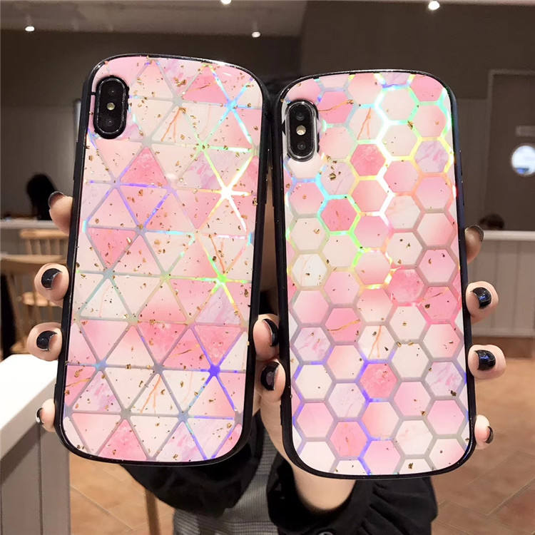 Fashion and new phone accessories for iphone 6 7 8 pus holographic laser glitter phone case for iphone x xs xsmax xr cover