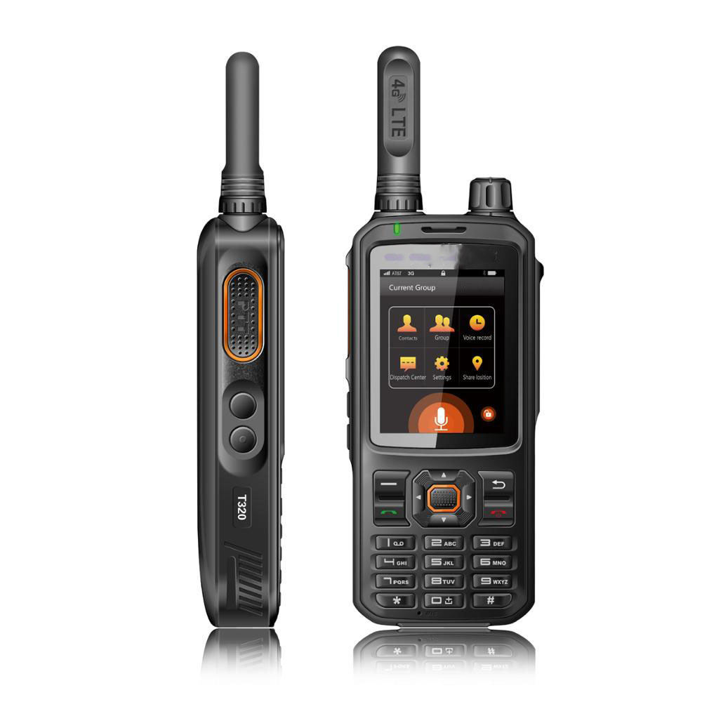 New 4G LTE/WCDMA/HSDPA Network Intercom Transceiver smart phone 32GB Walkie Talkie GPS Optional Zello Two Way Radio T320