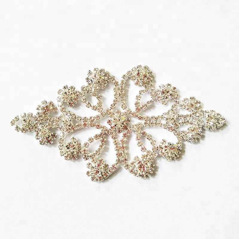 Fashion rhinestones wholesale sew on crystal applique for wedding dress