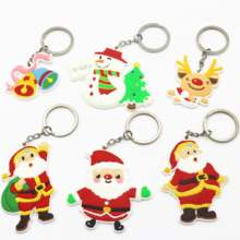 Wholesale 2D Christmas Gifts Soft PVC Keychain Custom